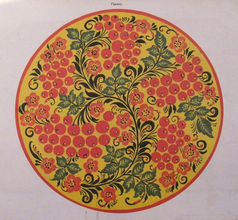 Гифки, картинки хохломская роспись тарелки
