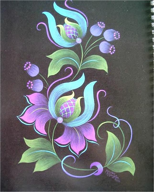 Роспись декоративного рисования