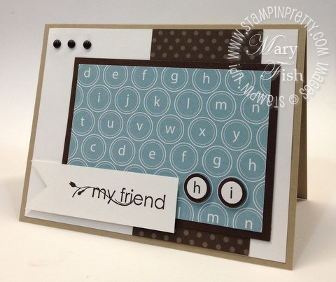 Stampin up pals paper arts challenge blog ppa circle square punch demonstrator tutorial