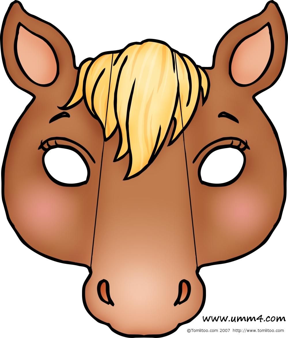 Маска лошади своими руками из бумаги