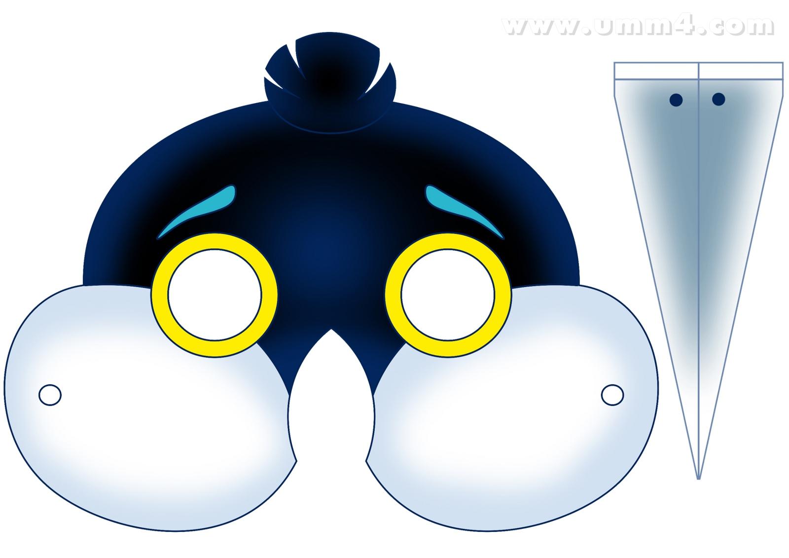 Как делать маски на новый гНовогодние пингвины