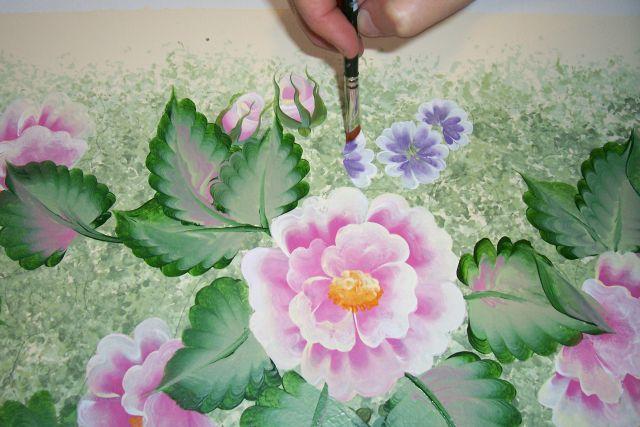 Как рисовать красками цветы