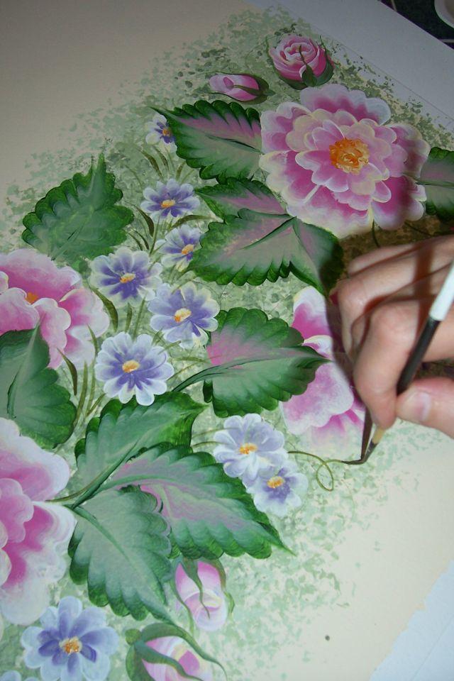 Мастер класс роспись цветов